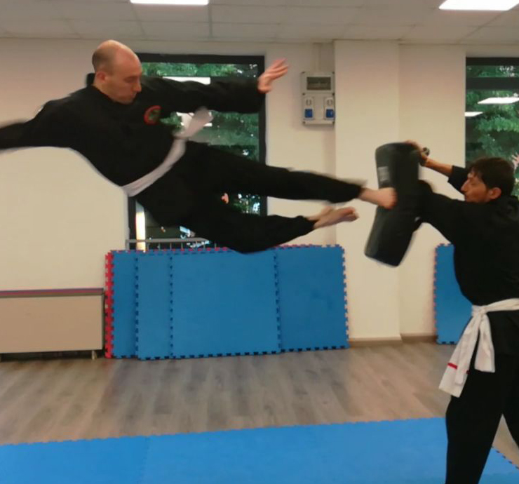calcio volante kung fu