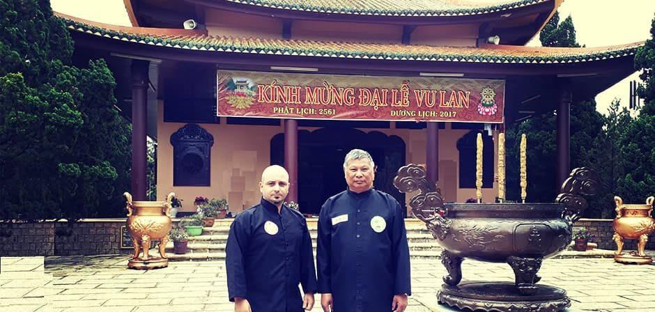 Maestro Emanuele Gerardi e Grand Master Truong Van Bao - Thieu Lam Phat Gia Quyen al Thien Vien Lam Dong