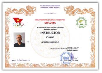Diploma Maestro Gerardi